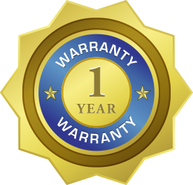 1 Year warranty on our work